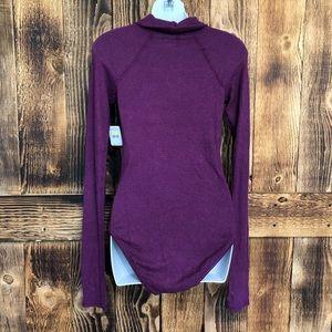 Free People Sweaters - NWT Free People Purple Knit Turtleneck Bodysuit -M